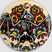 Day of the Dead Bat by Illustrated Ink Modern Cross Stitch Art Kit